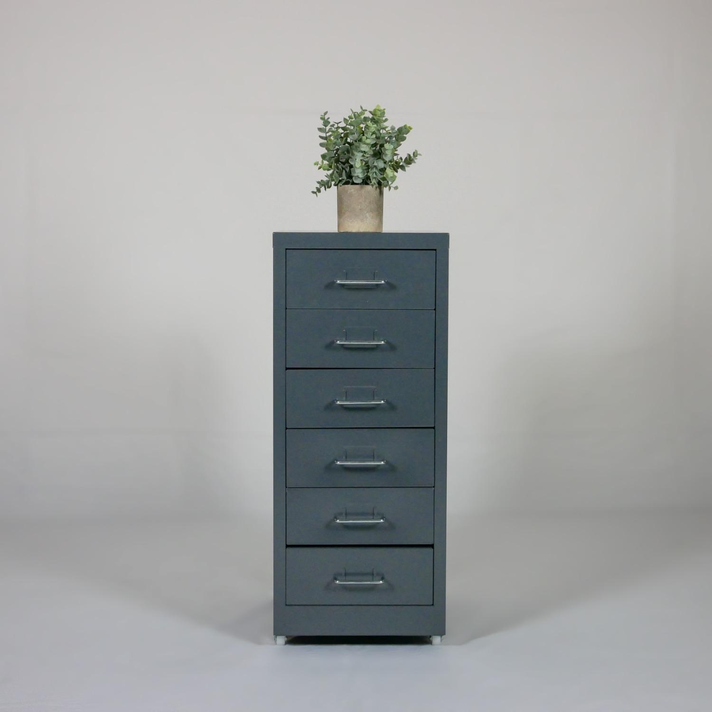 Minimalist Metal Storage Cabinet (Gray) - image-2