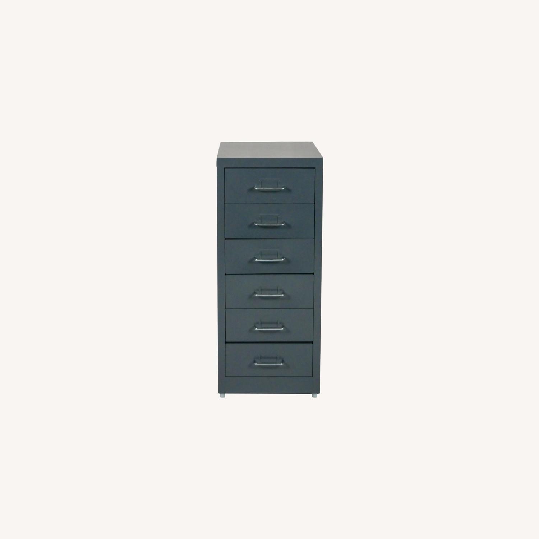 Minimalist Metal Storage Cabinet (Gray) - image-0