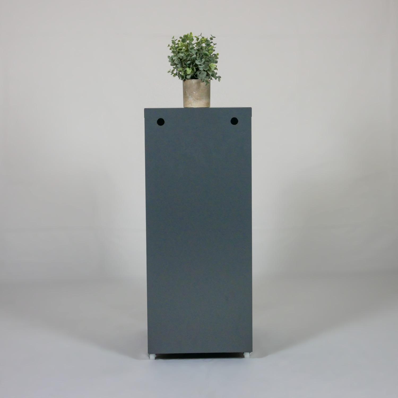 Minimalist Metal Storage Cabinet (Gray) - image-4