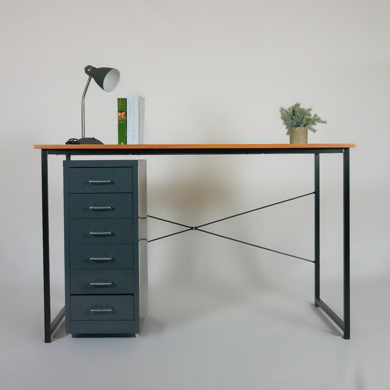 Minimalist Metal Storage Cabinet (Gray) - image-6
