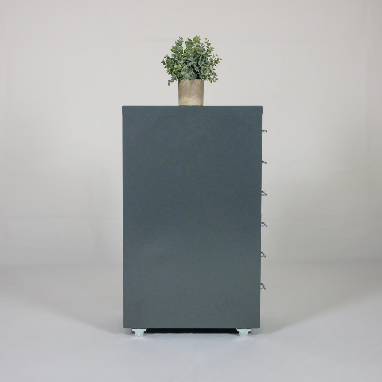Minimalist Metal Storage Cabinet (Gray) - image-3