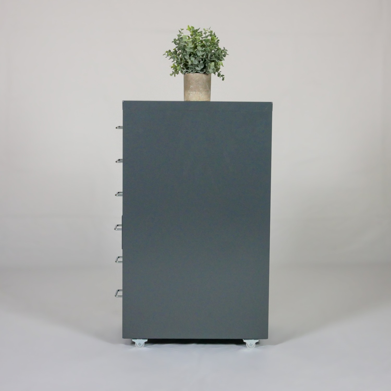 Minimalist Metal Storage Cabinet (Gray) - image-5