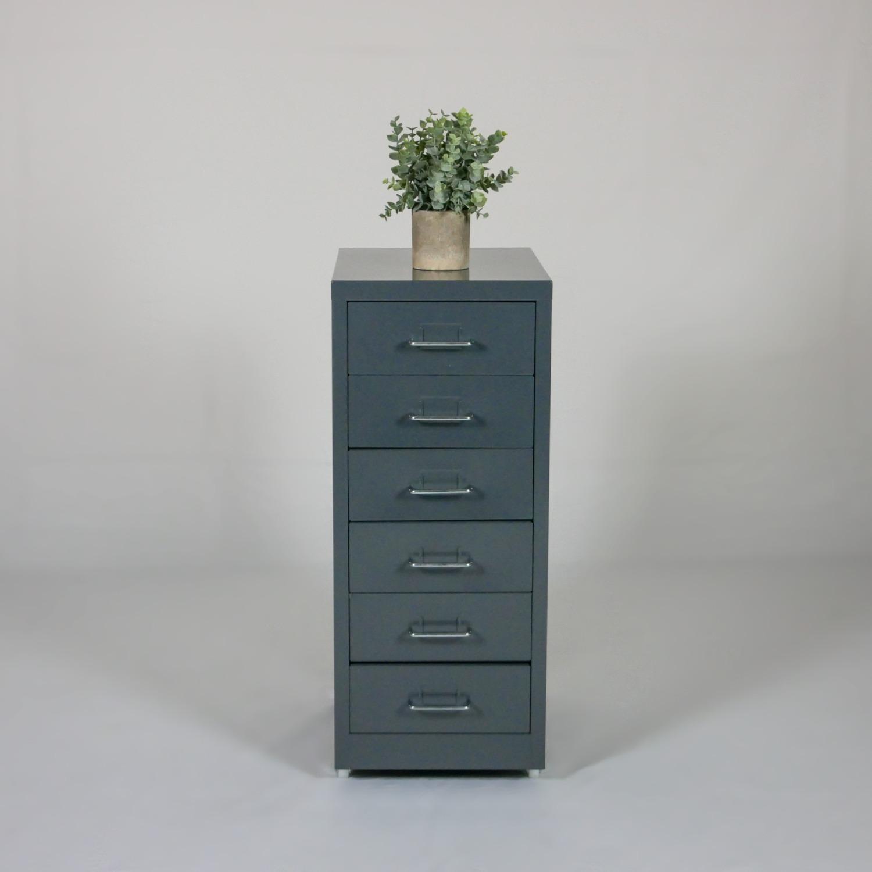 Minimalist Metal Storage Cabinet (Gray) - image-1