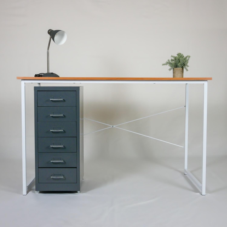 Minimalist Metal Storage Cabinet (Gray) - image-7