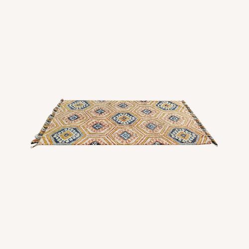 Used Feizy Abelia Gold/Orange Hand-Tufted Wool Rug for sale on AptDeco