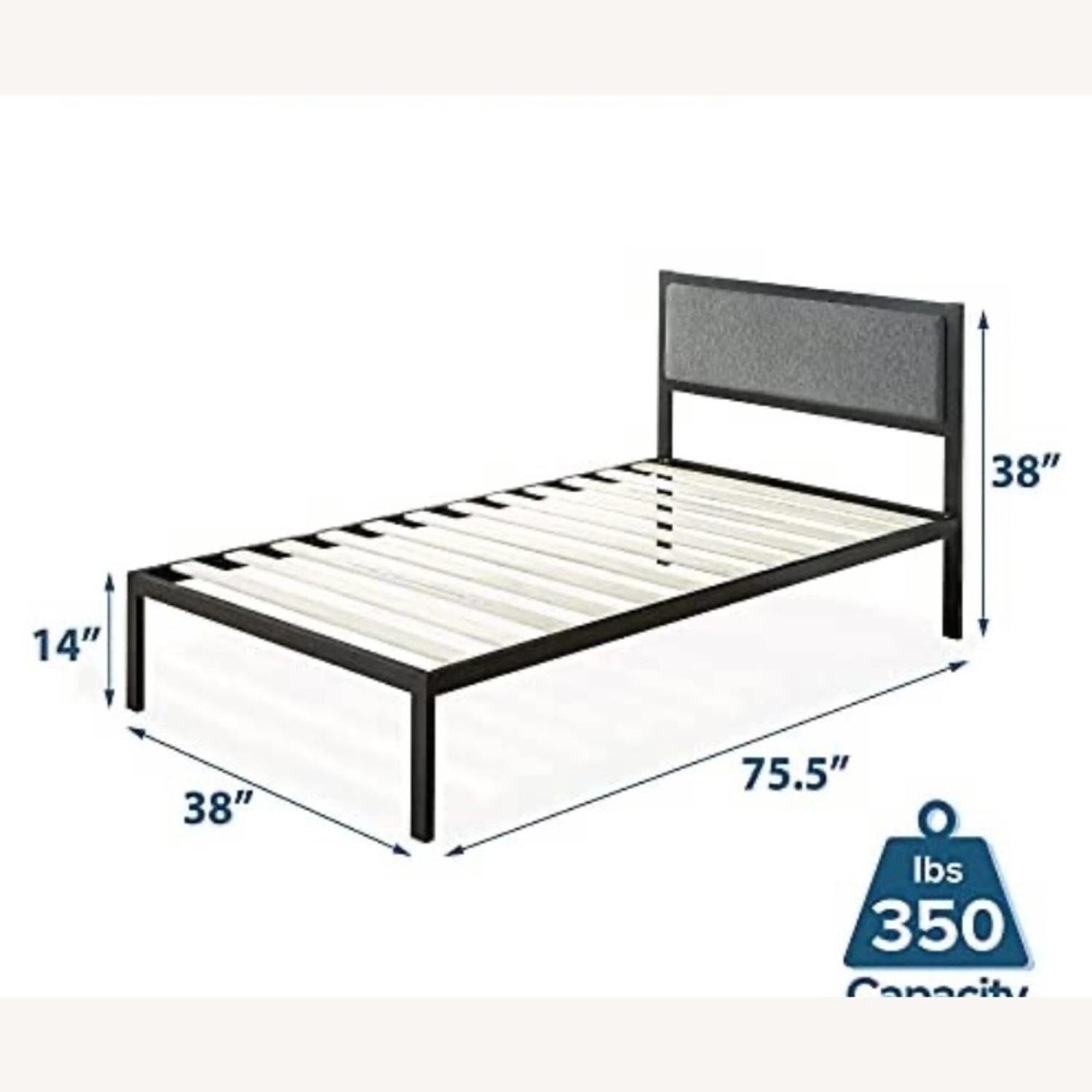14 inches Metal Bed Frame - image-2