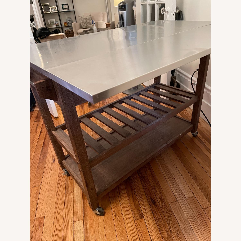 Drop Leaf Wood Kitchen Cart - image-6
