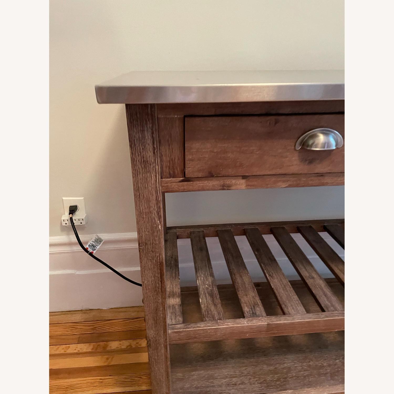 Drop Leaf Wood Kitchen Cart - image-7