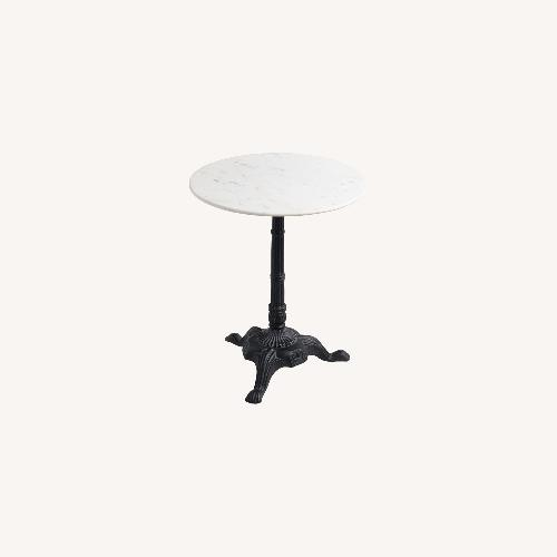 Used World Market Marble Bistro Accent Table for sale on AptDeco