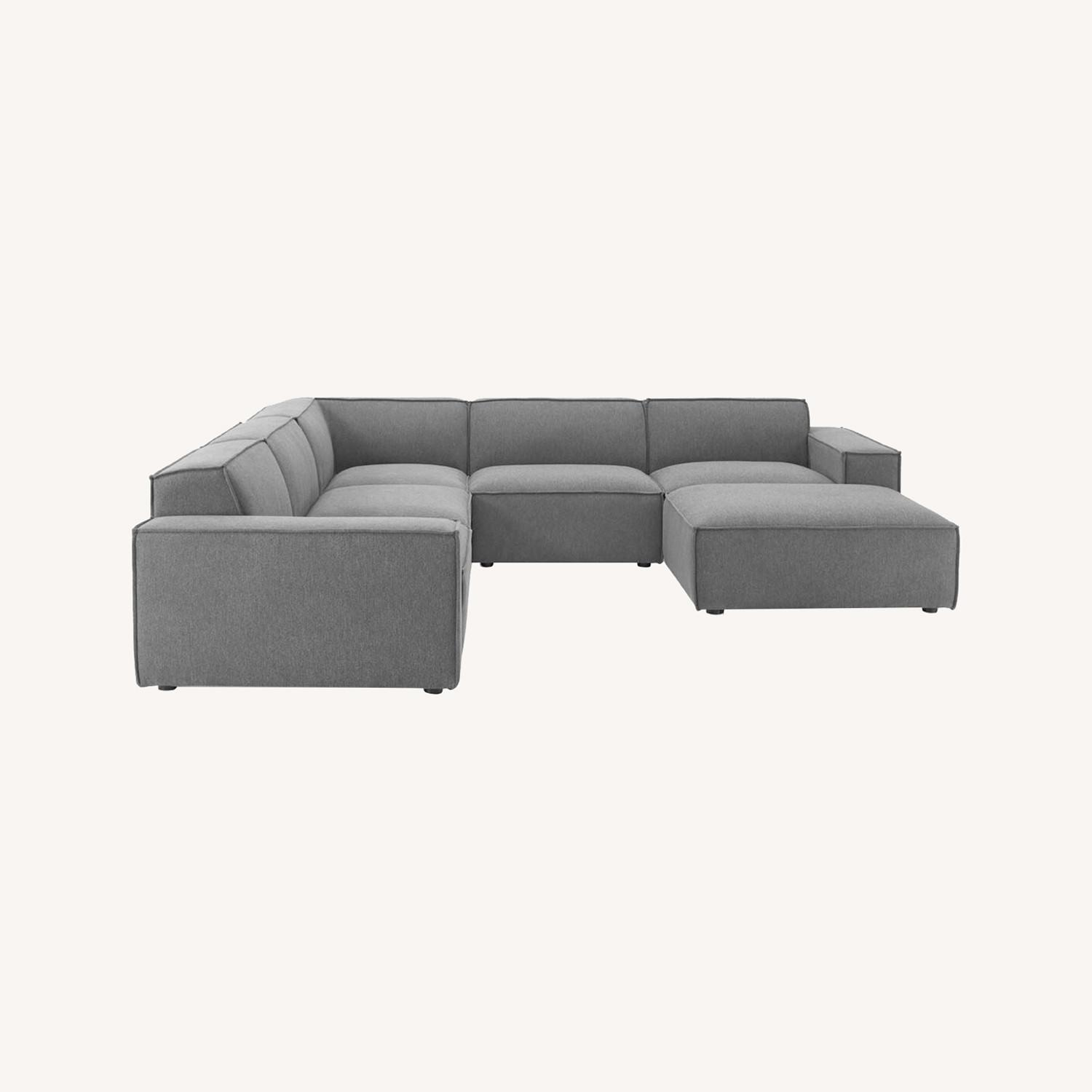6-Piece Sectional Sofa In Charcoal Fabric - image-13