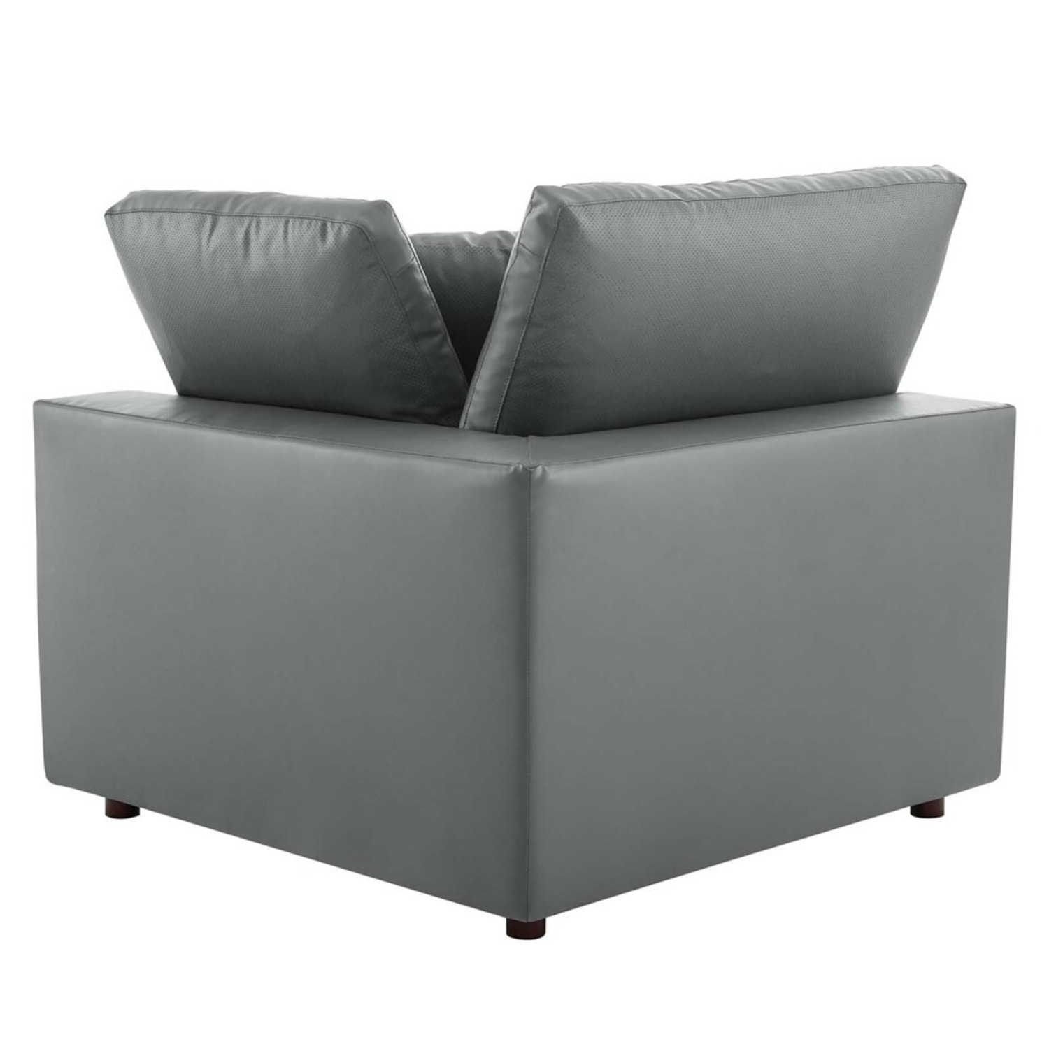 8-Piece Sectional Sofa In Gray Vegan Leather - image-6