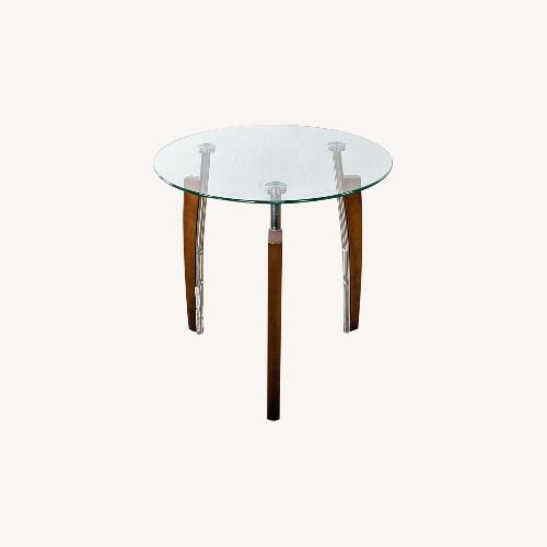 Used Glass Top Side Table from Jennifer Convertibles for sale on AptDeco