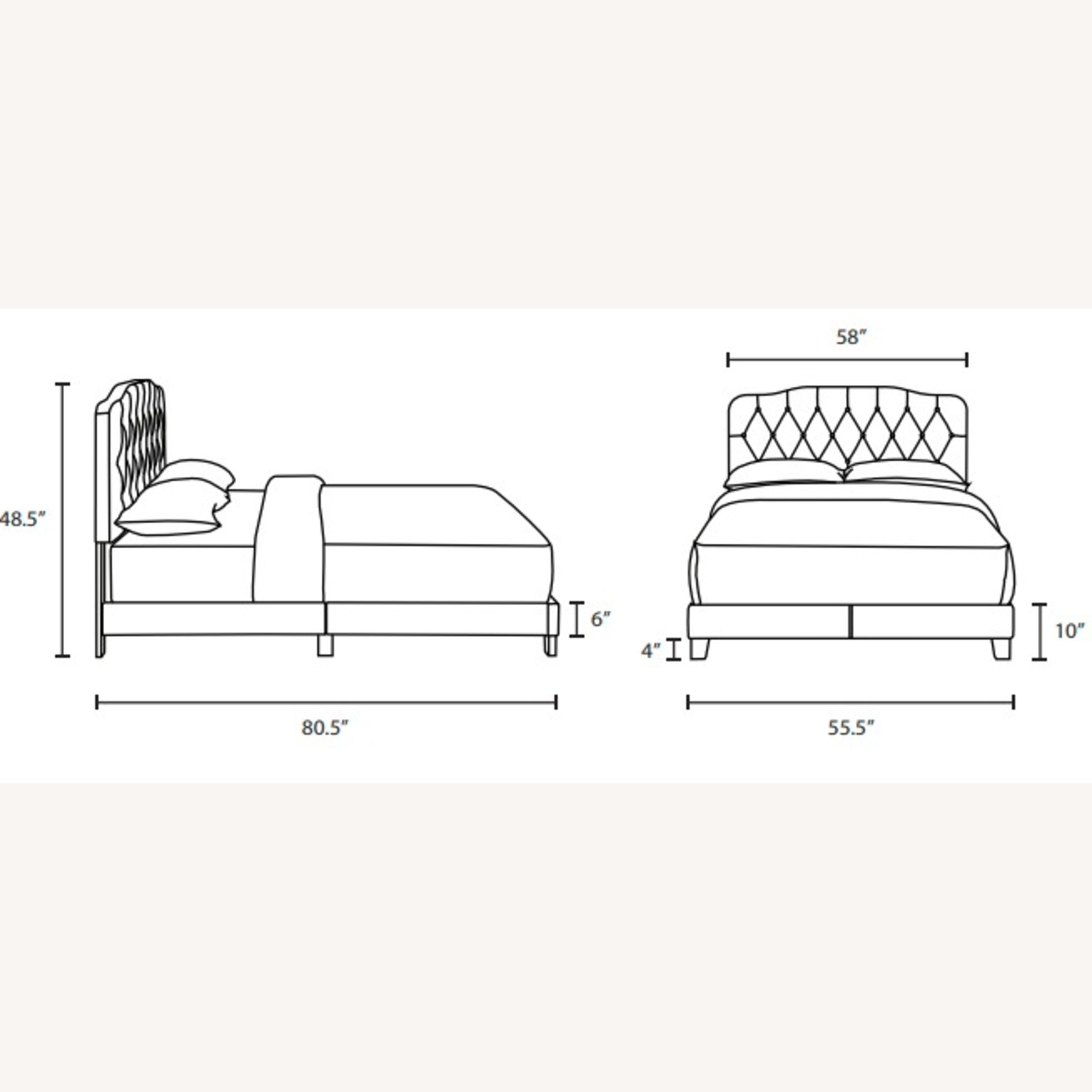 Full Bed In White Button-Tufted Faux Leather - image-5