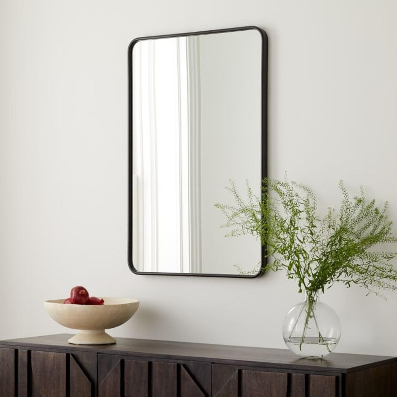 West Elm Modern Streamline Metal Wall Mirror - image-2