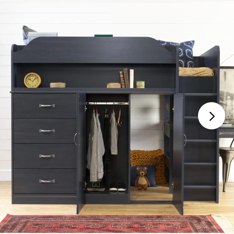 Wayfair Bunkbed w/ Hideout/Desk/Dresser - image-1