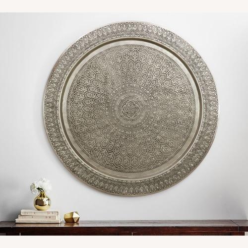 Used Pottery Barn Decorative Metal Disc Wall Art for sale on AptDeco