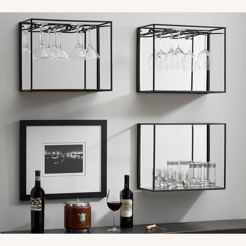 Pottery Barn Mirrored Entertaining Shelves - image-3
