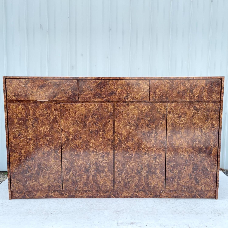 Vintage Modern Burl Front Sideboard - image-1