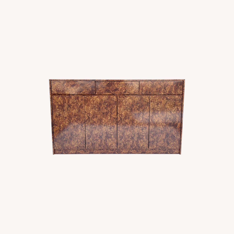 Vintage Modern Burl Front Sideboard - image-0
