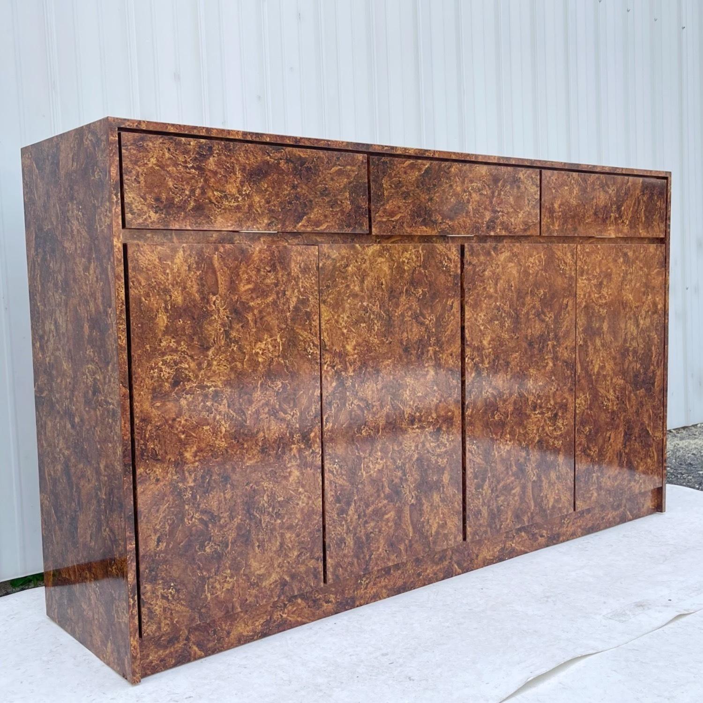 Vintage Modern Burl Front Sideboard - image-2