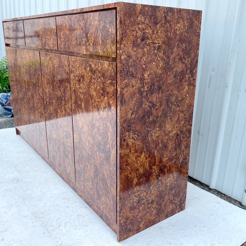 Vintage Modern Burl Front Sideboard - image-7