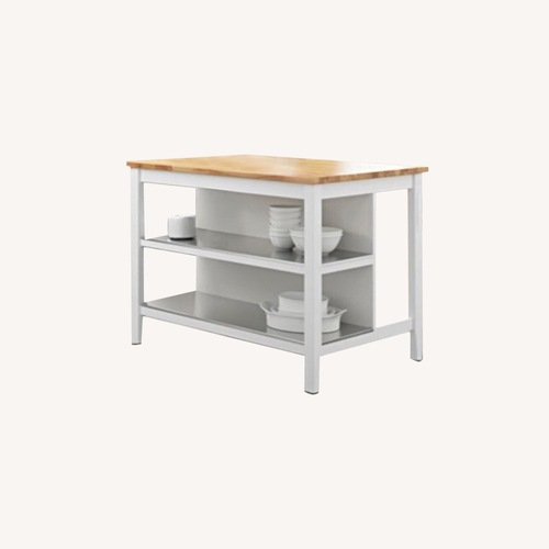 Used IKEA White Kitchen Island/Counter Dining for sale on AptDeco