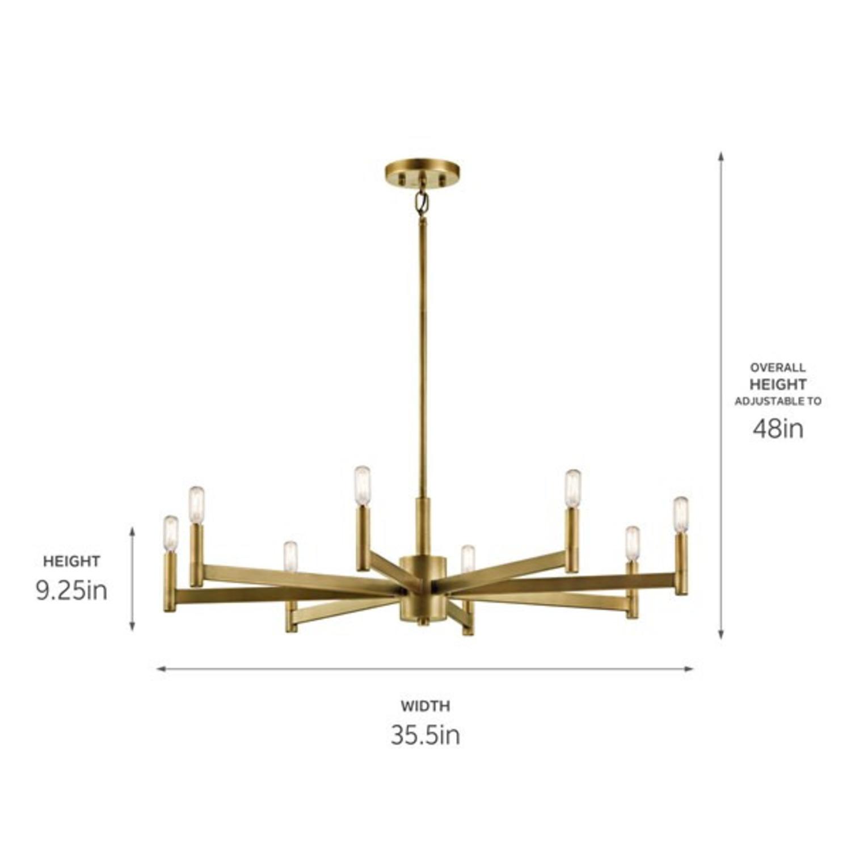 Kicheler Brass 8 Tier Chandlier - image-2