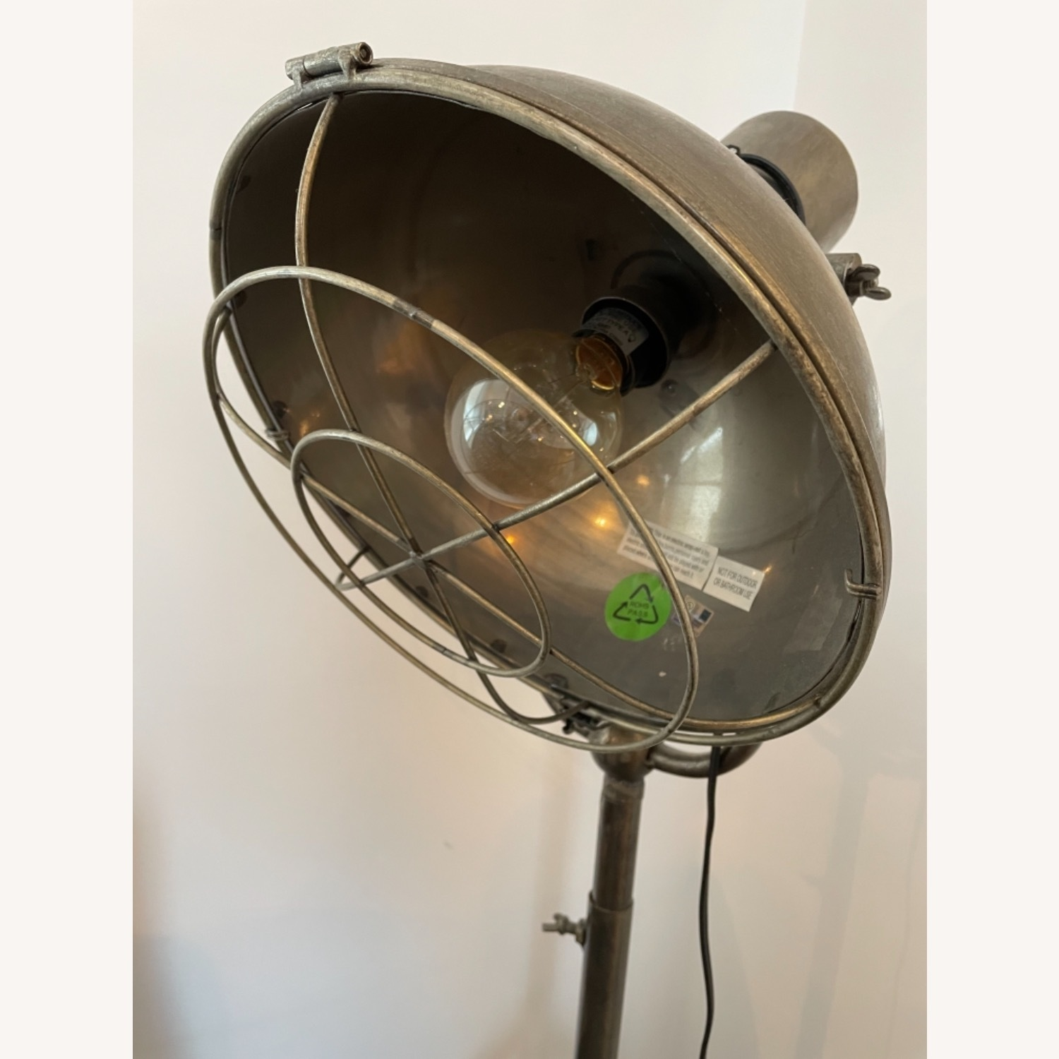 Caged Industrial Floor Lamp - image-4