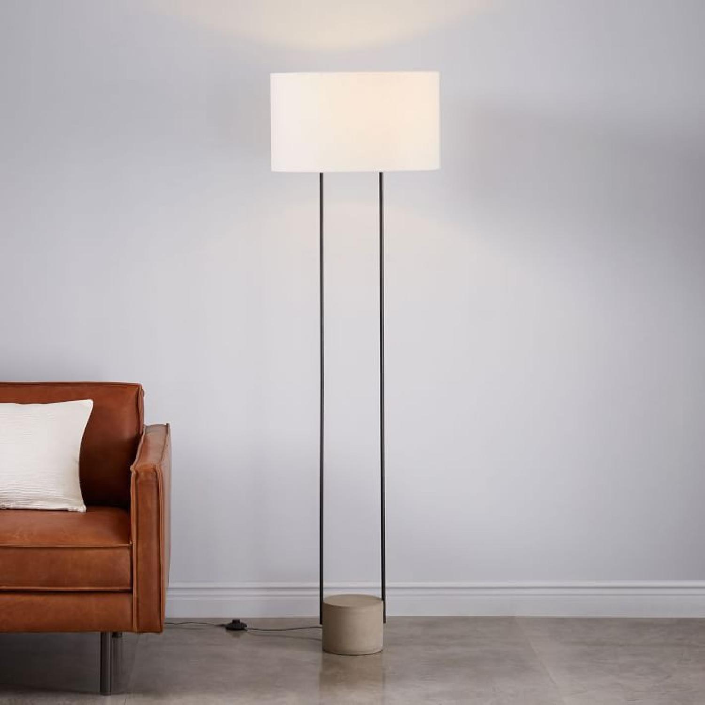 West Elm Industrial Outline Floor Lamp - Concrete - image-8