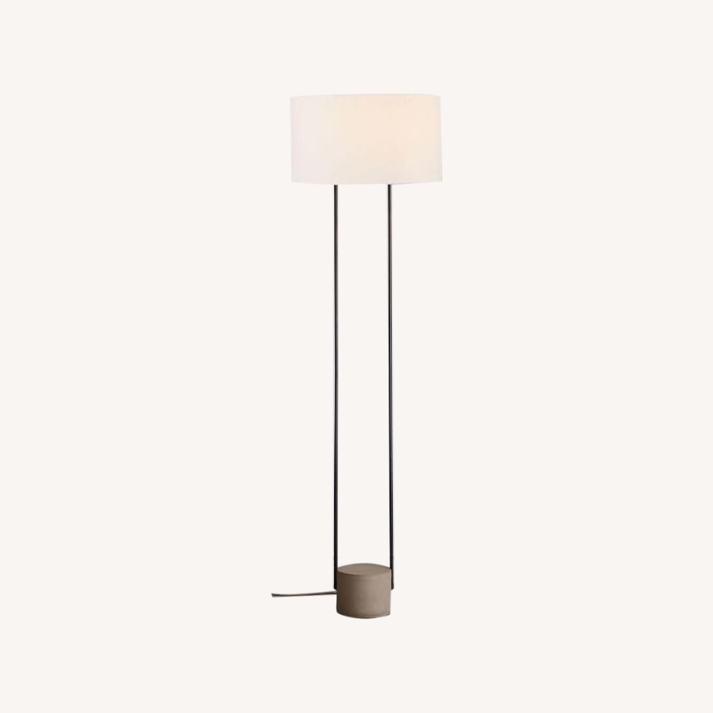 West Elm Industrial Outline Floor Lamp - Concrete - image-0