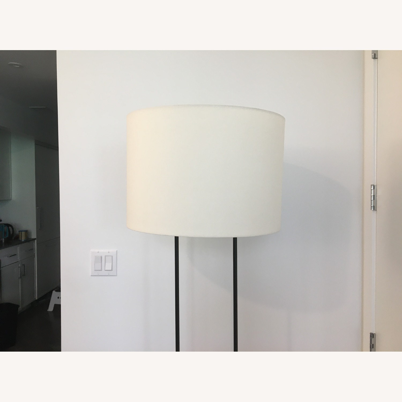 West Elm Industrial Outline Floor Lamp - Concrete - image-4