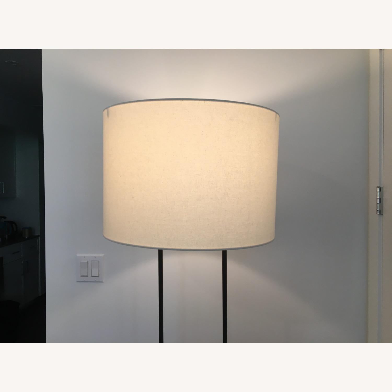 West Elm Industrial Outline Floor Lamp - Concrete - image-5