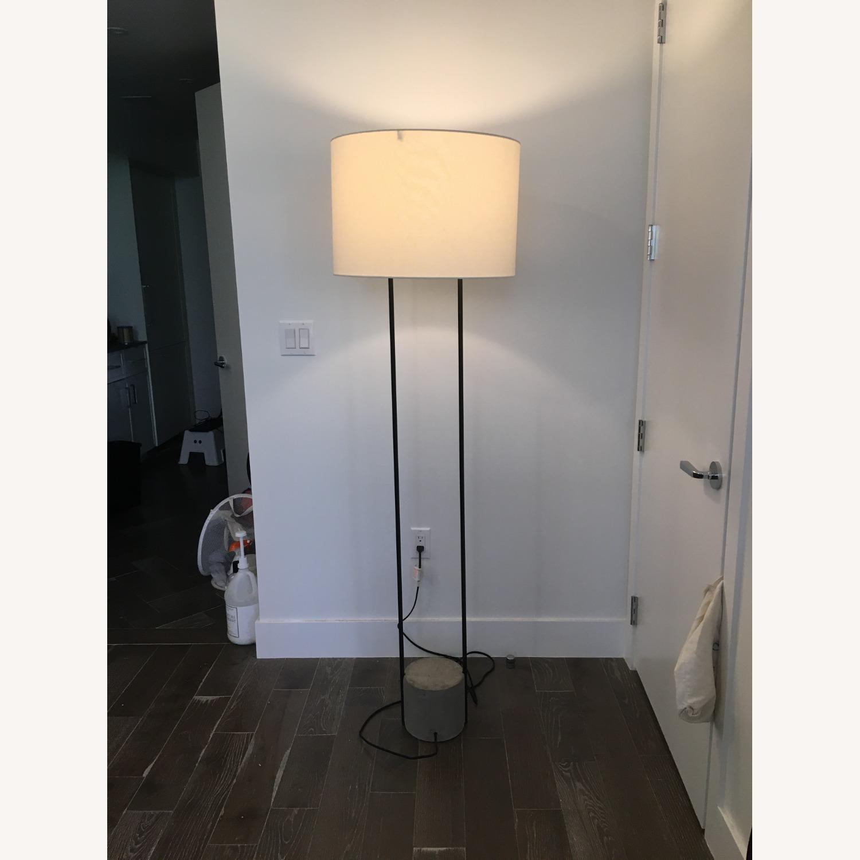 West Elm Industrial Outline Floor Lamp - Concrete - image-1