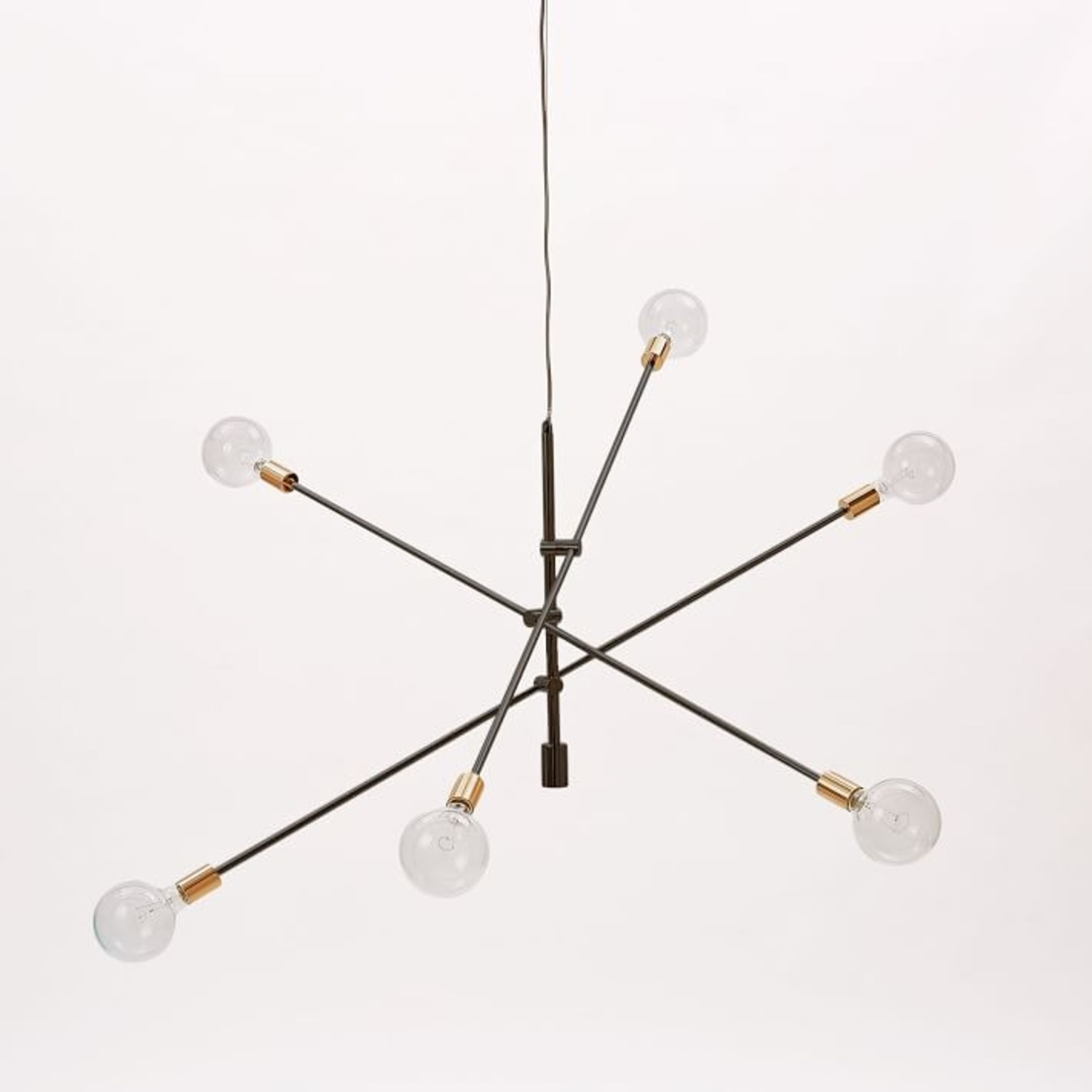 """West Elm Mobile Chandelier, 55"""", Two-Tone - image-1"""