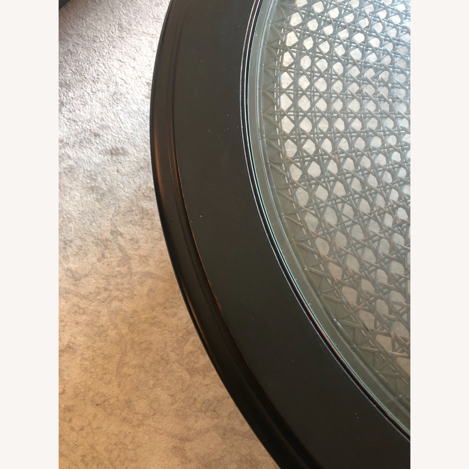 Ethan Allen Maya Round Coffee Table in Peppercorn - image-2