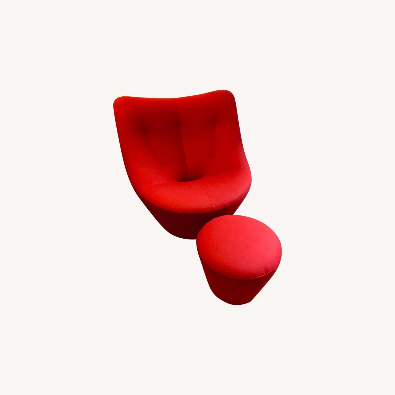 Ligne Roset Anda Armchair + Footstool - image-0