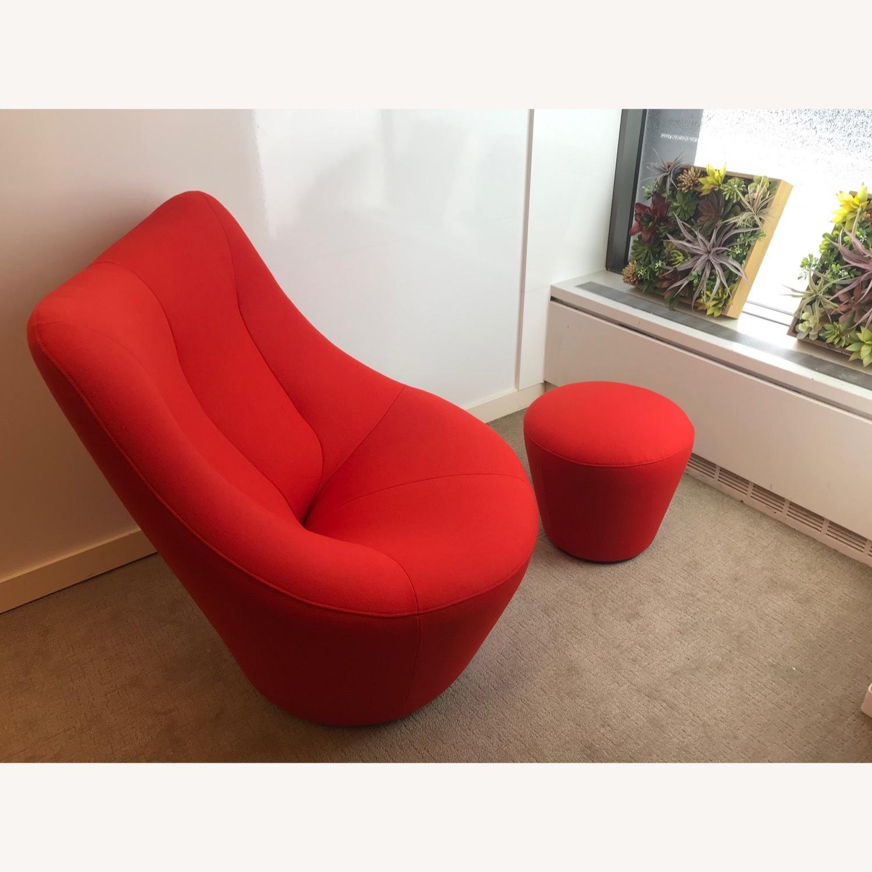 Ligne Roset Anda Armchair + Footstool - image-1
