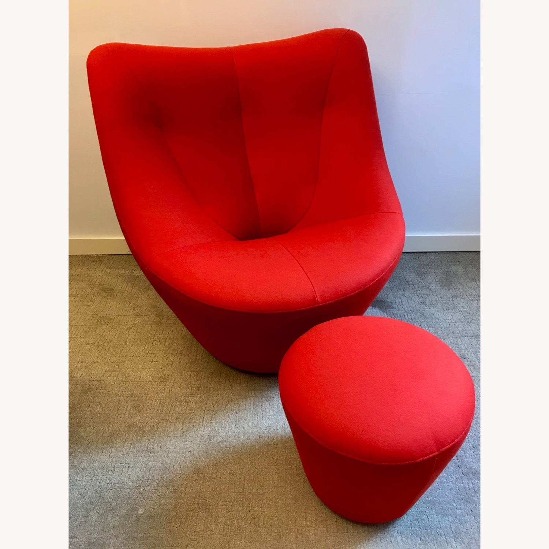 Ligne Roset Anda Armchair + Footstool - image-2