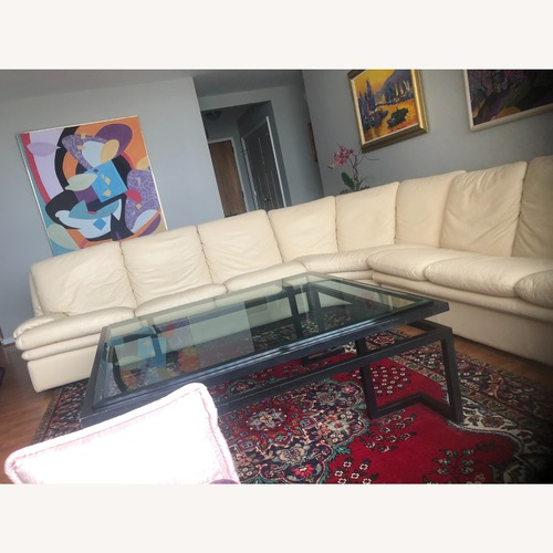 Used Roche Bobois Leather Sectional for sale on AptDeco