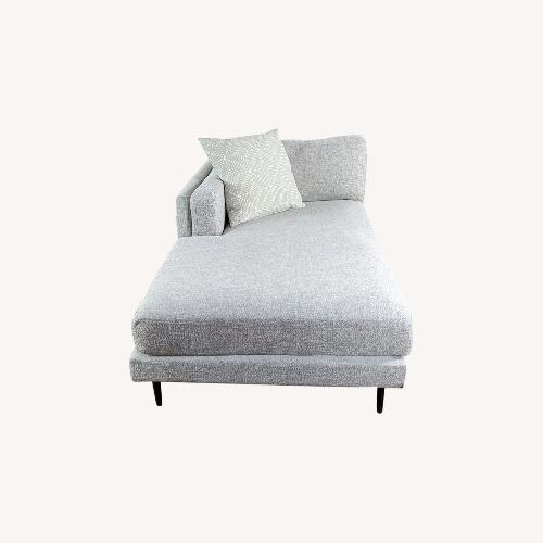 Used Living Spaces Gray Upholstered Chaise for sale on AptDeco