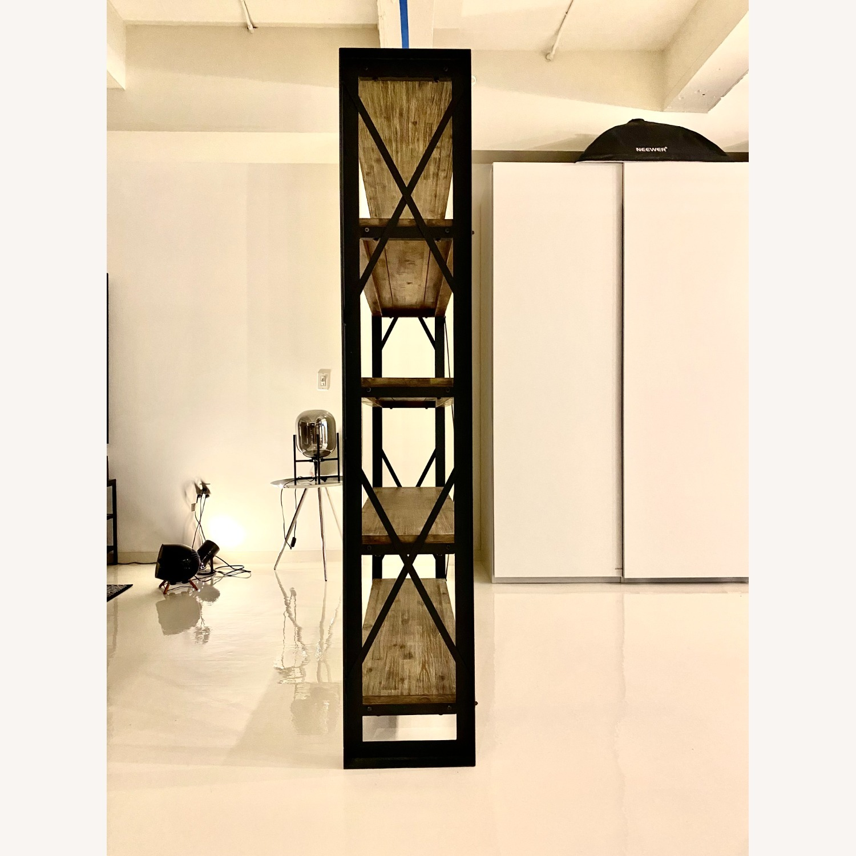 Industrial Wood and Metal Bookshelves - image-4