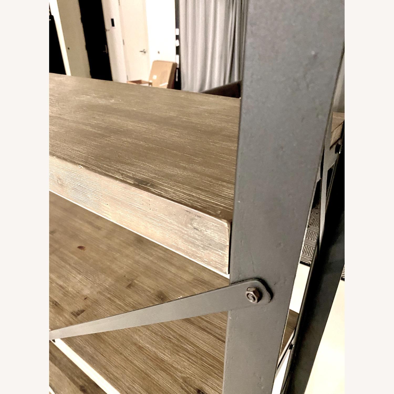Industrial Wood and Metal Bookshelves - image-5