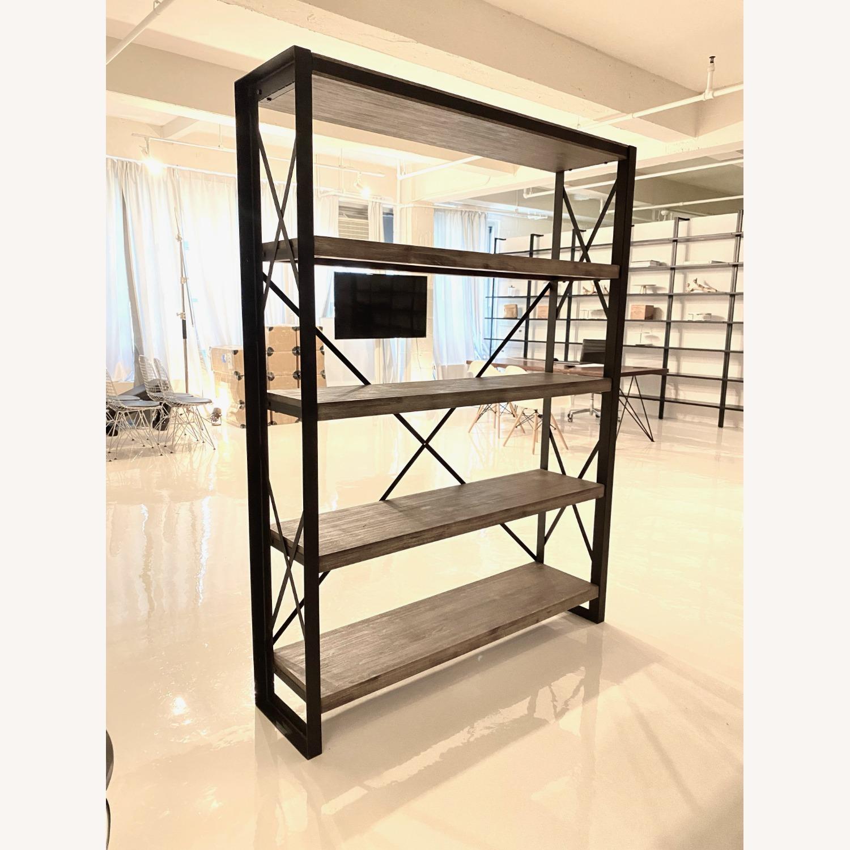 Industrial Wood and Metal Bookshelves - image-3