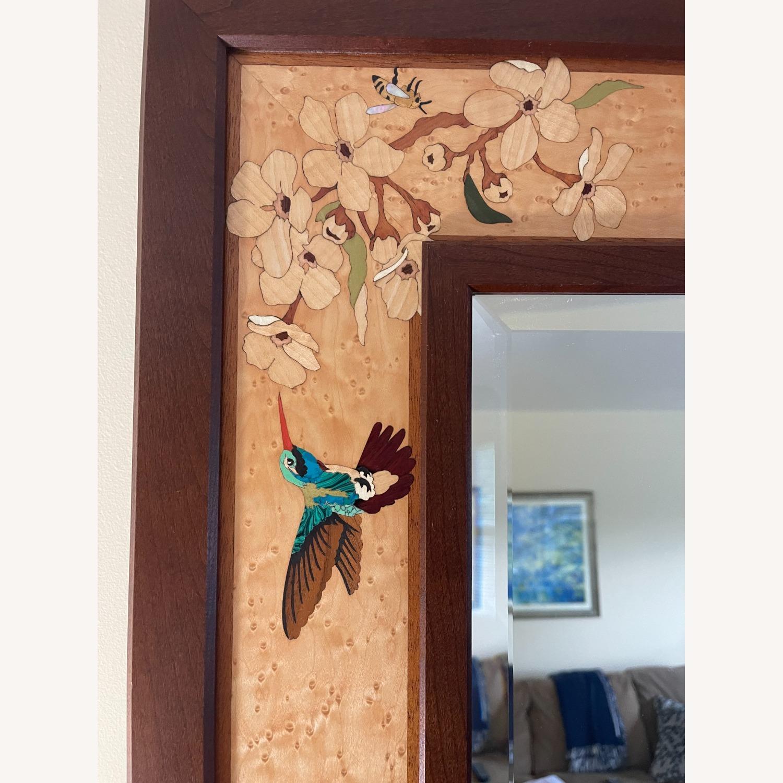 Hudson River Inlay Hummingbird Blossoms Mirror - image-4
