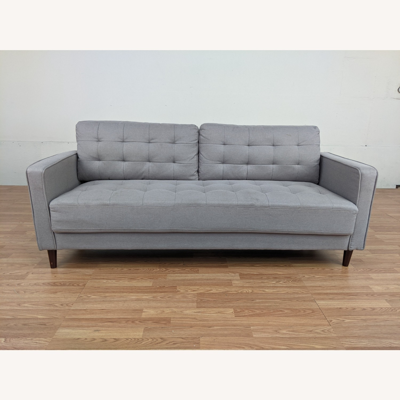 Zinus Gray Upholstered Sofa - image-1