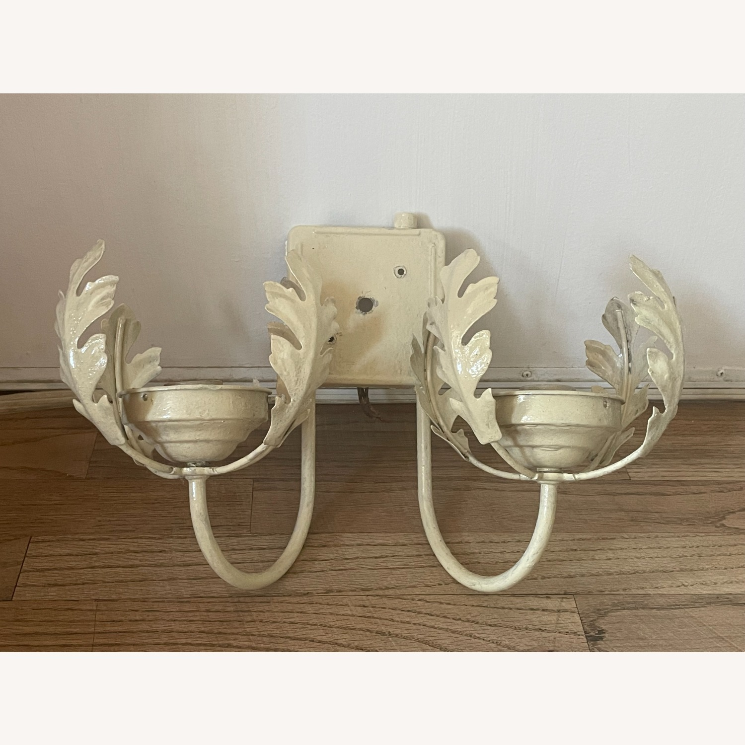 Vintage Mid-Century Rustic Shabby Chic Wall Sconce - image-5