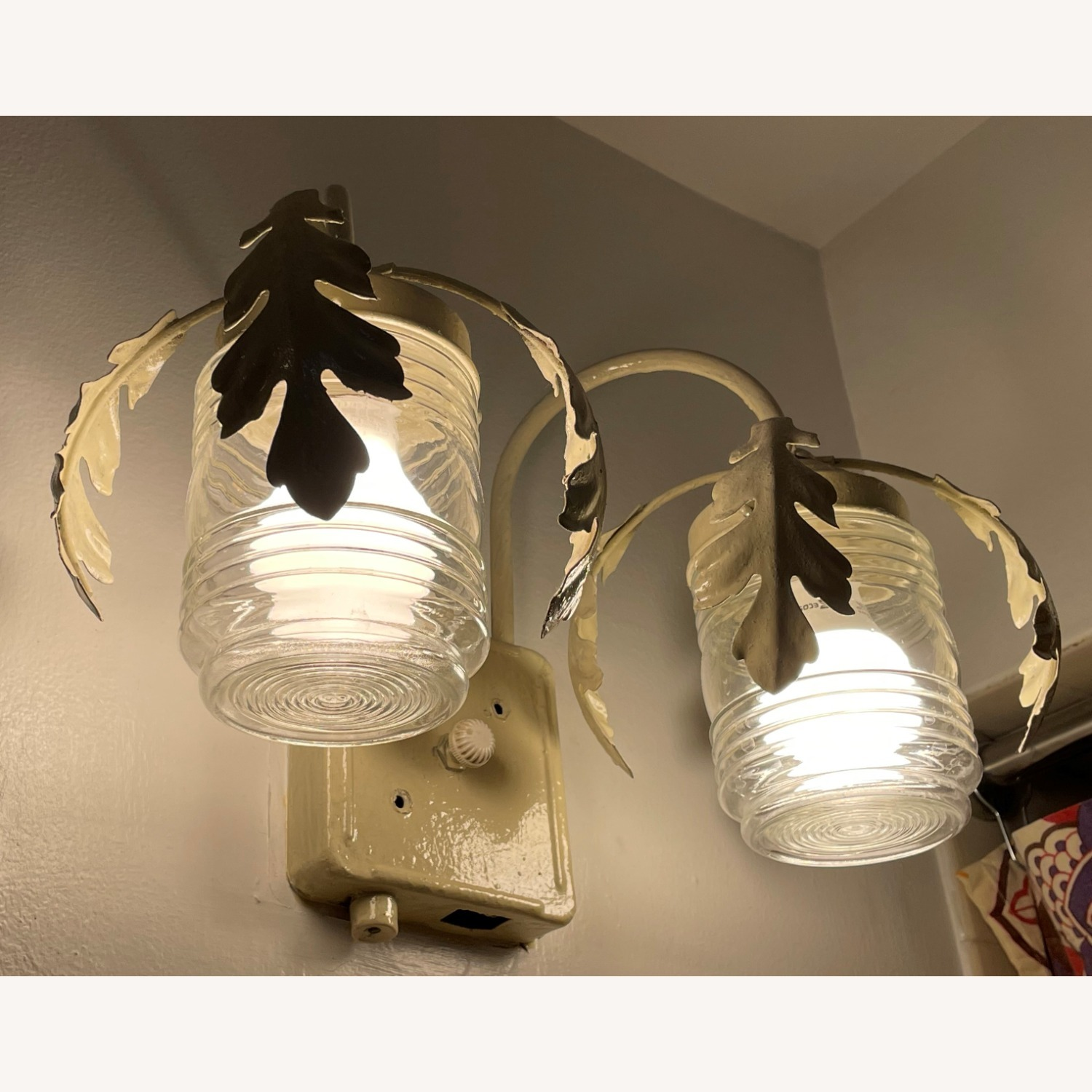 Vintage Mid-Century Rustic Shabby Chic Wall Sconce - image-3