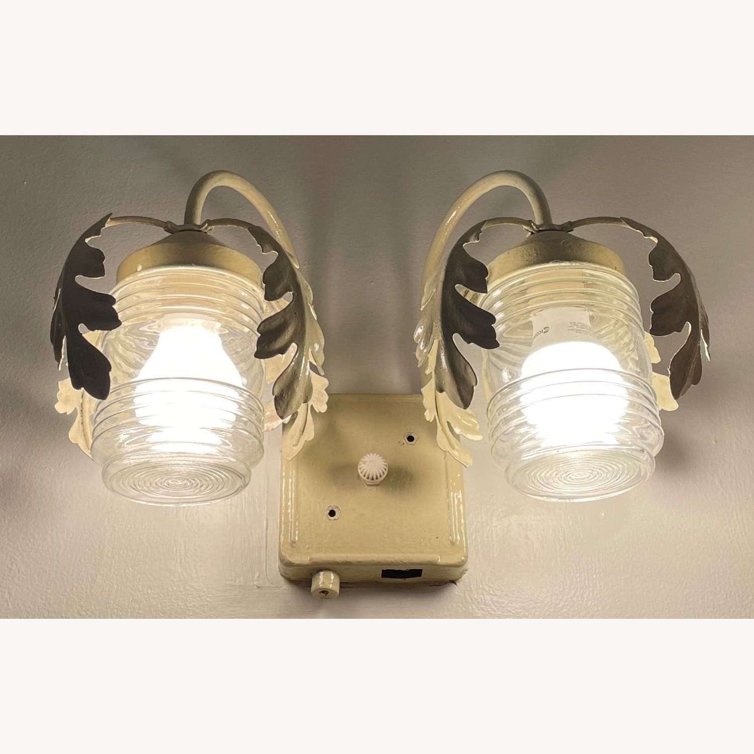Vintage Mid-Century Rustic Shabby Chic Wall Sconce - image-2