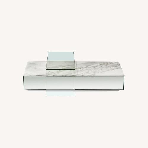 Used Modani Furniture Lucio Coffee Table in White for sale on AptDeco