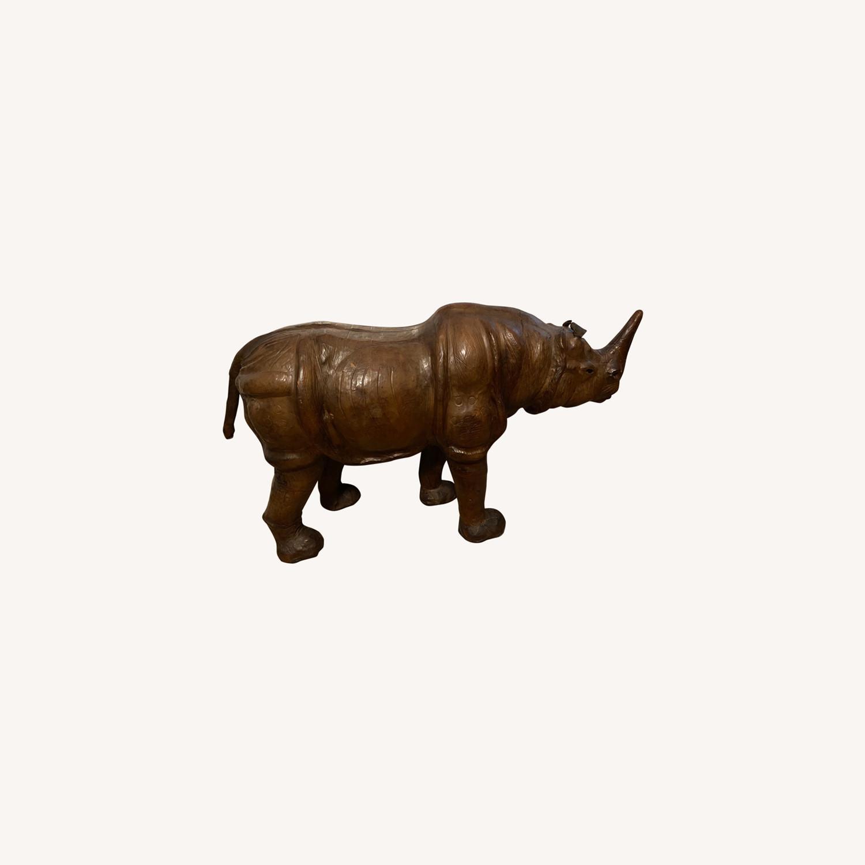 Vintage Leather Rhino - image-0